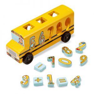 אוטובוס התאמת מספרים Melissa & Doug מונטסורי