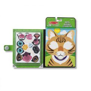 חוברת מדבקות בעלי חיים -אריה-melissa & doug