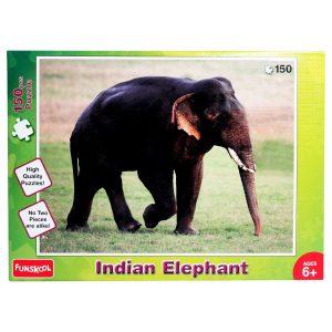 """פאזל רצפה 150 חלקים – """"פילים בהודו"""""""