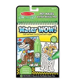חוברת טוש המים מבוך חיות מחמד Melissa & Doug