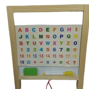 לוח דו צדדי + מספרים ואותיות מגנטיות