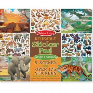 חוברת מדבקות ג'ונגל & סוואנה Melissa & Doug