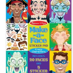 חוברת מדבקות פרצופים מצחיקים Melissa & Doug