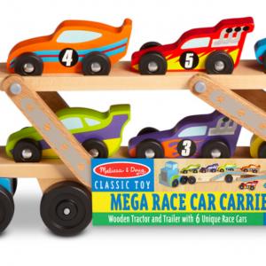מוביל 6 מכוניות ענק מעץ-melissa & dog