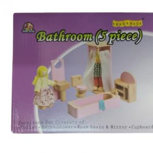 """חדר אמבטיה מעץ מבית """"ANNA & BECK"""""""