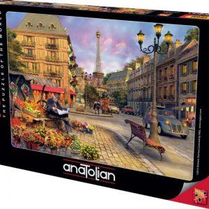 """פאזל """"חיי הרחוב בפריז"""" – 1500 חלקים – anatolian"""