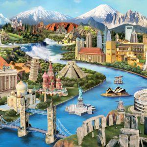 """פאזל """"ציוני דרך פופולריים"""" – 2000 חלקים – anatolian"""