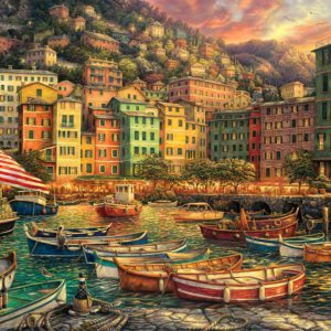 """פאזל """"ספינות בנמל איטליה"""" – 3000 חלקים – Anatolian"""