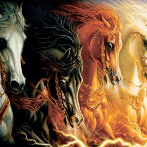 """פאזל """"ארבעת הסוסים"""" – 2000 חלקים – anatolian"""