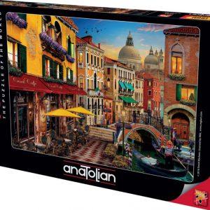 """פאזל """"בתי קפה בוונציה"""" – 1500 חלקים – anatolian"""