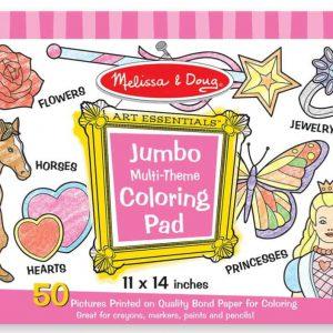 """חוברת צביעה """"Jumbo"""" -סוסים, לבבות ,פרחים… מבית: Melissa & Doug"""