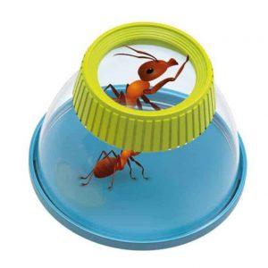 """זכוכית מגדלת איכותית עם סוגר לחקר חרקים """"BUKI """""""