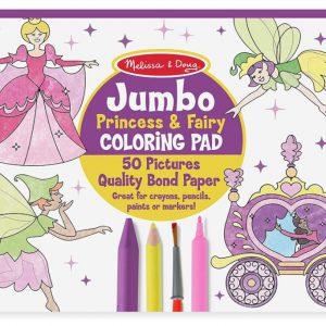 """חוברת צביעה """"Jumbo"""" -נסיכות ופיות מבית: Melissa & Doug"""