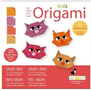 """ערכת קיפולי נייר """"ילדים אוריגמי""""  דגם : חתול"""