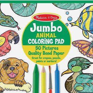 """חוברת צביעה """"Jumbo"""" -חיות מבית: Melissa & Doug"""