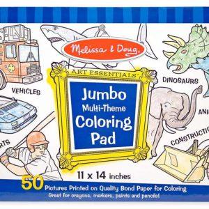 """חוברת צביעה """"Jumbo"""" -חלל, כרישים, ספורט ועוד… מבית: Melissa & Doug"""