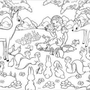 """פאזל """"שילגיה וחיות היער"""" 60 חלקים דו צדדי  – מבית Lisciani"""