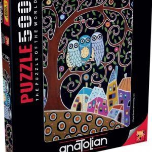 """פאזל """"שלוש ינשופים"""" 500 חלקים  – anatolian"""