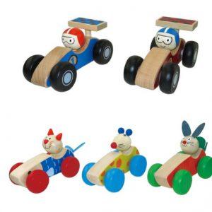 מכונית עץ לדחיפה