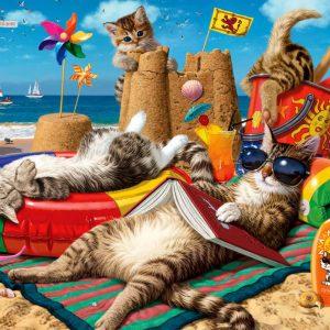 """פאזל """"חתולים על החוף"""" – 260 חלקים – Anatolian"""