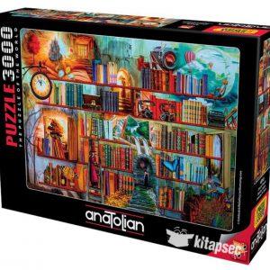 """פאזל """"ארון ספרים מסתורי """" – 3000 חלקים – Anatolian"""