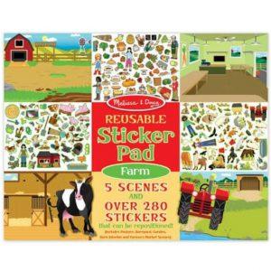 """חוברת מדבקות """"חוות חיות""""  Melissa & Doug"""