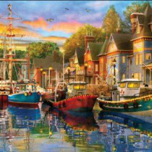 """פאזל """"אורות נמל"""" – 1500 חלקים – anatolian"""