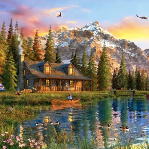 """פאזל """"בית קטן על הנחל"""" – 2000 חלקים – anatolian"""