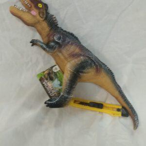 """בובת """"דינוזאור ולוסירפטור"""" מגומי רך משמיע קולות"""
