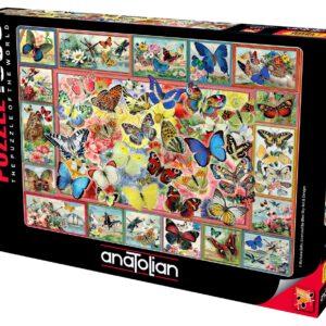 """פאזל """"הרבה פרפרים"""" – 1000 חלקים – anatolian"""