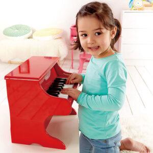 """פסנתר עץ אדום לילדים """"HAPE"""""""