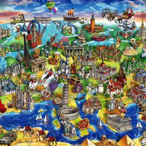 """פאזל """"העולם האירופי"""" – 1500 חלקים – anatolian"""