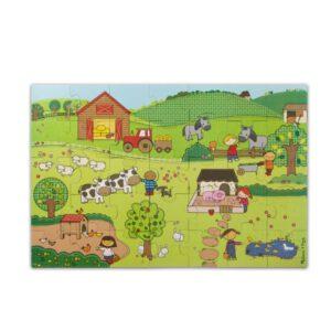 """פאזל ריצפה """"חיות החווה""""  Melissa & Doug"""
