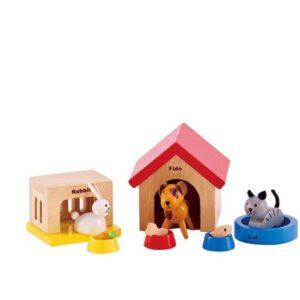 """סט חיות משפחה לבית בובות """"HAPE"""""""