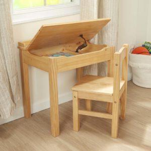 """סט כיסא ושולחן עם פלטה מתרוממת – """"Melissa & Doug"""""""