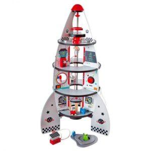 """חללית עץ מאובזרת – משחק דמיון – 4 קומות """"HAPE"""""""