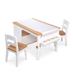 """סט שולחן אומנות ו 2 כסאות מעץ """"Melissa & Doug"""""""