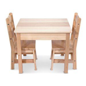 """סט שולחן ו 2 כיסאות מעץ """"Melissa & Doug"""""""