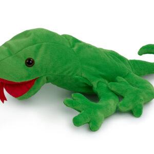 בובות כף יד זיקית ירוקה