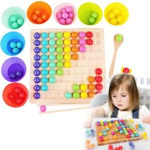 משחק לוח חרוזים בצבעי הקשת