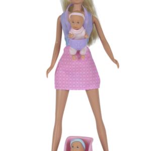 """בובת """" סטפי"""" בייביסיטר + 2 תינוקות"""
