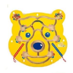 מבוך גולות + עפרונות מגנטים – דוב צהוב