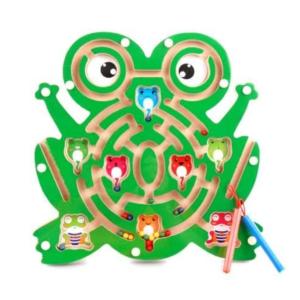 מבוך גולות + עפרונות מגנטים – צפרדע