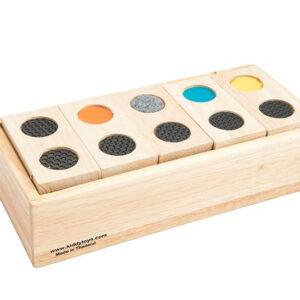 משחק דומינו עץ – מישוש מונטסורי