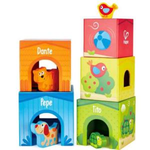 """משחק מגדל קוביות חברים + כולל חיות """"HAPE"""""""