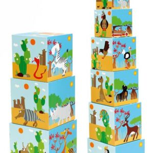 """מגדל 10 קוביות חיות העולם """"SCRATCH"""""""