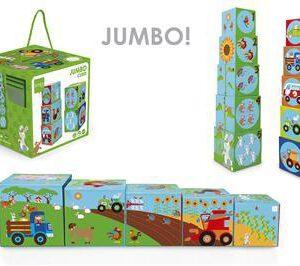"""מגדל 5 קוביות JUMBO – חווה – """"SCRATCH"""""""